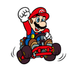 Autocollants Mario Kart 4