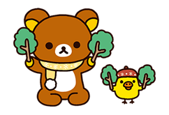 Rilakkuma: Chairoikoguma Stickers 4