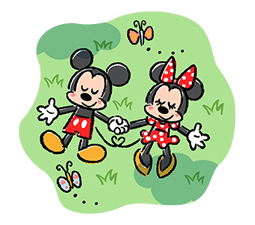 Lovely Mickey dan Minnie pelekat 4