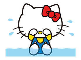 Hello Kitty Pouncing Çıkartma 4