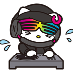 DJ Hallo Kitty-Aufkleber 4