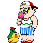 LINE Characters - Happy Vacations Stickers 4