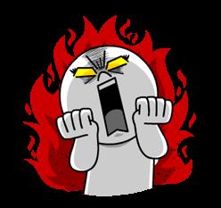linje-tegn: Brændende Emotion klistermærker 4