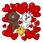 Brown & Cony Love Stickers Big 4