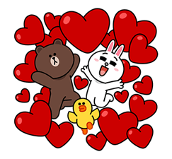 Brown & Cony ini Big Love Stiker 4