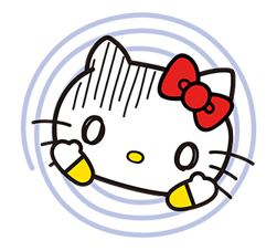 Hello Kitty menerkam Stiker 16
