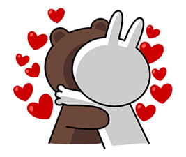 Brown & Cony's Big Love Stickers 15