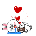 Brown & cony Lonely Hearts Data Naklejki 5