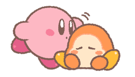 Puffball Sticker Set di Kirby 5