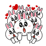 Brown & Cony's Heaps of Hearts! stickers 5