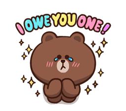 LINE Characters: Pretty Phrases Stickers 5