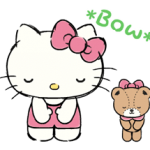 Hello Kitty Daily Cuteness Naklejki 5