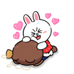 Brown & Cony in Love Autocollants 5
