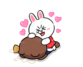 Brown & Cony in Love Stickere 5