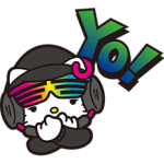 DJ Hello Kitty Stickers 5
