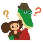Stickers Cheburashka 4