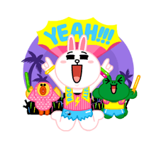 LINE Characters: Party Time Stickers 21