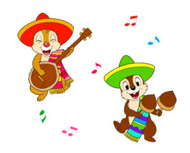 Chip y Dale Summer Delight Pegatinas 6