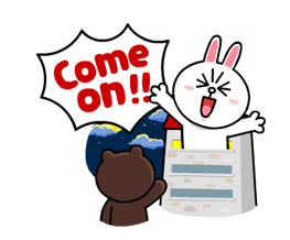 Brown & Cony's Lonely Hearts Date Stickers 6