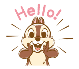 Chip 'n' Dale Fluffy Di chuyển Stickers 6