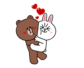 Brown & Cony's Heaps of Hearts! Stickers