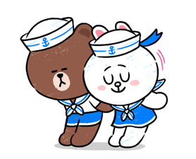 Brown & Cony in Love Stickere 6