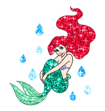 The Little Mermaid Sparkling Stickers 6