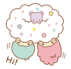 Little Twin Stars Sparkling Stickers 10
