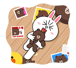Brown & Cony ini Big Love Stiker 6