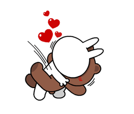 Brown & Cony's Heaps of Hearts! Stickers 7