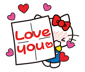 Hello Kitty pouncing Stickers 7