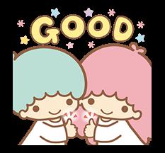 Ít Twin Stars Sparkling Stickers