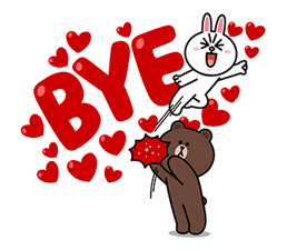 Brown & Cony ini Big Love Stiker 7