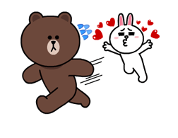 Brown & Cony's Lonely Hearts Date Stickers 8