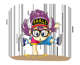 Dr.Slump -Arale Stickers 8