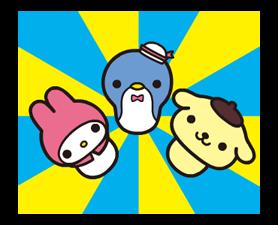 Sanrio ZNAKI × Moni Moni ZWIERZĘTA Naklejki 14