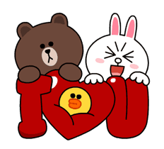 Brown & Cony lui Palpitant Data Stickere 8