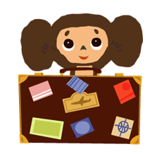 Cheburashka Stickers 7