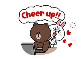 Brown & Cony's Lonely Hearts Date Stickers 9