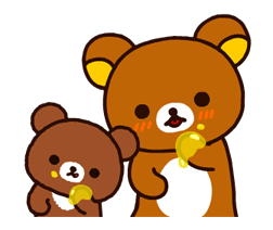 Rilakkuma~Korilakkuma with a new friend~ Stickers 9