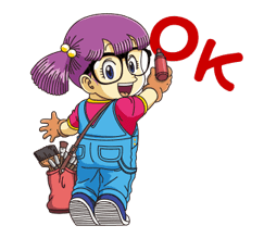 Dr.Slump -Arale Stickers 9