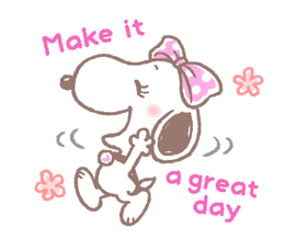 Lovely Snoopy at Work Stickers 9