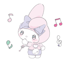 LARME x My Melody Stickers 9