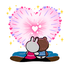 Brown & Cony in Love Stickere 9