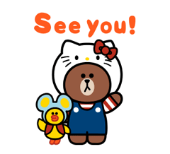 LINE FRIENDS & HELLO KITTY 9