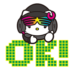 DJ Hello Kitty Stickers 9