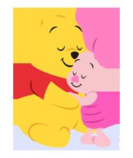 Winnie the Pooh 3 Aufkleber