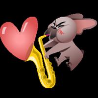 Mugsy In Love Sticker 12