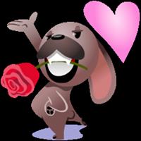 Mugsy In Love Sticker 13