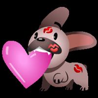 Mugsy In Love Sticker 15